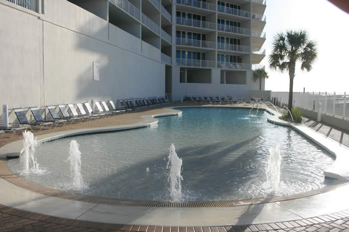 Pool at The Lighthouse Condos in Alabama